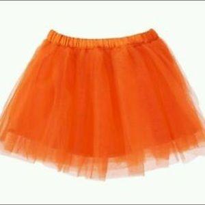 Gymboree Happy Harvest Orange Tutu Tulle Skirt